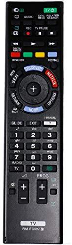 RM-ED058 Fernbedienung Ersatz für Sony KDL-48W585B KDL-48W605B KDL-50W705B KDL-50W805B KDL-50W829B KDL-55HX753 KDL-55W828B KDL-60W605B KDL-60W855B