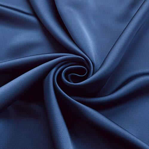 Novato Textiles New Premium Duchess Bridal Satin Stoff Brautkleid Abschlussball Material Krepp Rücken 54 breit (Marineblau) (4 Meter)