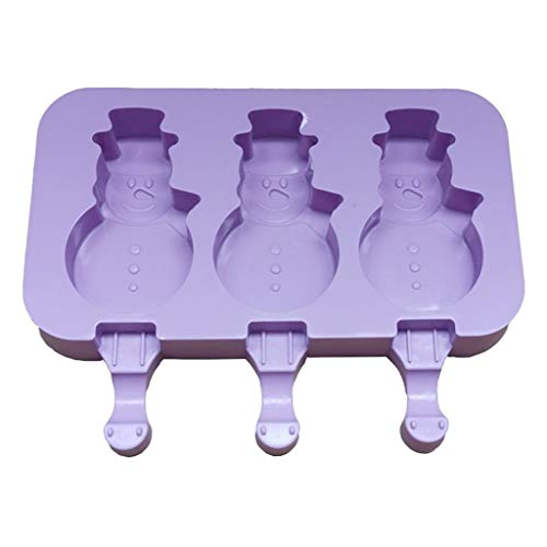 Silicone Ice Cream Mold Reusable DIY Ice Cubes Maker Tool with 50 Wood Stick DIY Silicone Ice Cream Mold DIY...