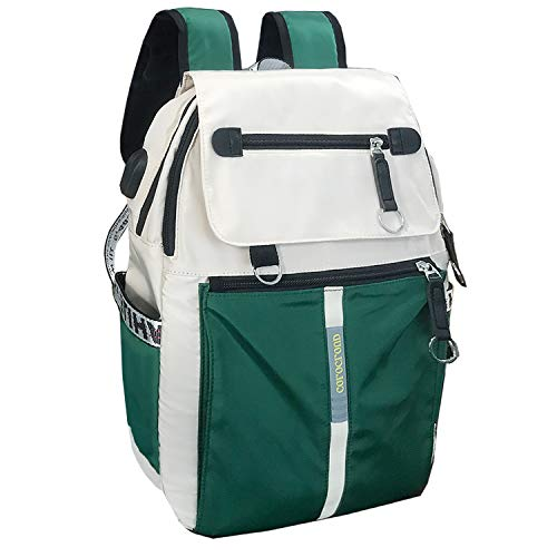 School backpack girls school bag single, Green (Green) - shoulder-handbags