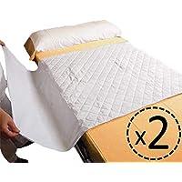 OrtoPrime Pack 2 Empapadores Cama Adultos Lavables Absorbentes 2,25 Litros/m2 - Más de 200 Lavados - Empapadores Impermeables 4 Capas - Empapadores Bebe Protector de cama con Alas 90 x 70