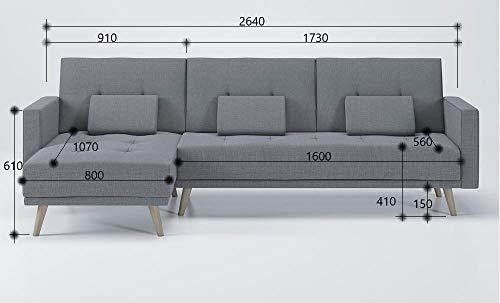Ecksofa Couch –  günstig   Schlaffunktion umbaubar Bild 6*