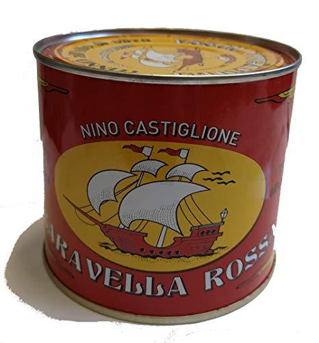 Tonno Pinne Gialle in olio d' oliva Castiglione Caravella Rossa 620gr