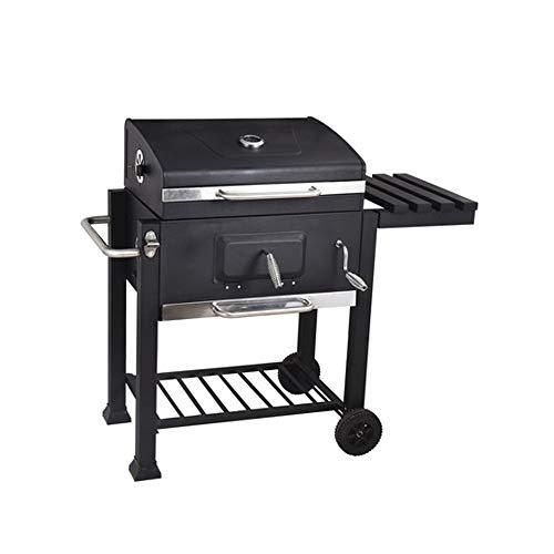 MISHUAI Buiten terras voor meer dan 8 personen, grote barbecue put Houtskool grill, verdikt met een grote vierkante oven