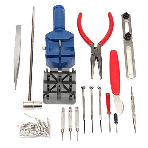MNAD Kit de Herramientas de reparación de Relojes de 124pcs Kit de la Herramienta de estaca Caja del abridor Removedor de la Barra de la Barra de la Barra