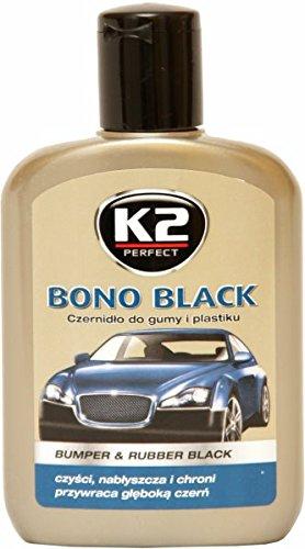 K2 voiture Bono noir pare-chocs et soins en caoutchouc, pare-chocs et restaurateur en plastique 200 ml