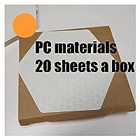 スキムボード サーフパッドワックスレス六角形ハニカムサーフボードデッキトラクションパッド20シート/ 10シートボックスサーフマット (Color : PC material)