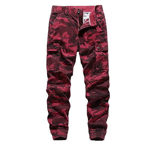Pantalones Cargo de Camuflaje para Hombre, Pantalones Multibolsillos Ajustados, Estilo Militar, Caza Salvaje, Pantalones tácticos antibalas 31