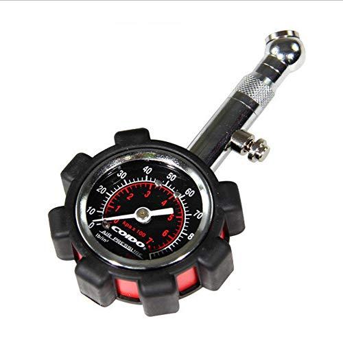 Medidor de presión de neumáticos KingBra de alta precisión, 100 PSI, medidor de presión de aire preciso y resistente para coche, camión, motocicleta, bicicleta