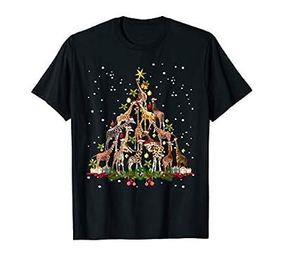 Funny Giraffe Christmas Tree Ornament Decor Gift Cute T-Shirt