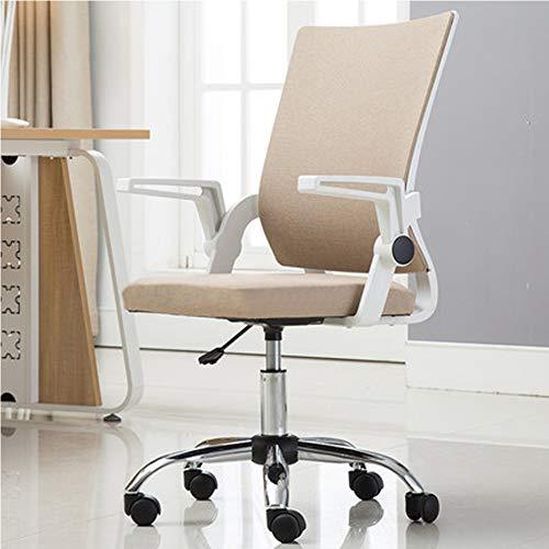 Silla de oficina ergonómica de malla de respaldo alto, almohadas de espuma viscoelástica, apoyo lumbar, para coche, casa, oficina, silla giratoria, reposabrazos abatibles moderno Large 4