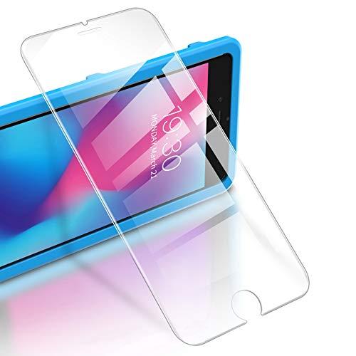 """RIWNNI [3 Stück Panzerglas für iPhone 8 Plus/7 Plus/6S Plus/6 Plus (5.5""""), 9H Panzerglasfolie, HD Displayschutzfolie Ultra Dünn Schutzfolie mit Positionierhilfe für iPhone 8 Plus/7 Plus - Transparent"""