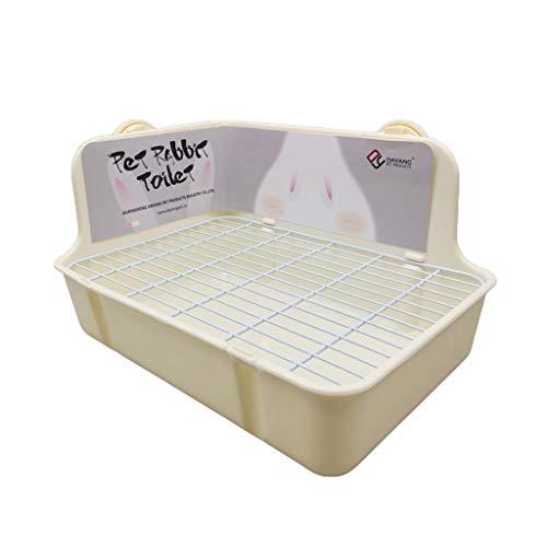 HULE Haustiertoilette für Kleintiere, Eckwannen für den Innenbereich für kleine Hamster, Katzen, Kaninchen, V-förmiges Schallstall gelb