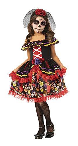 Dia de los Muertos- Catrina Disfraz Catrinita De Luxe Inf (Rubies 700895-L)