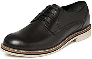 TONI ROSSI Men's Spettare Black Leather Formal Shoes