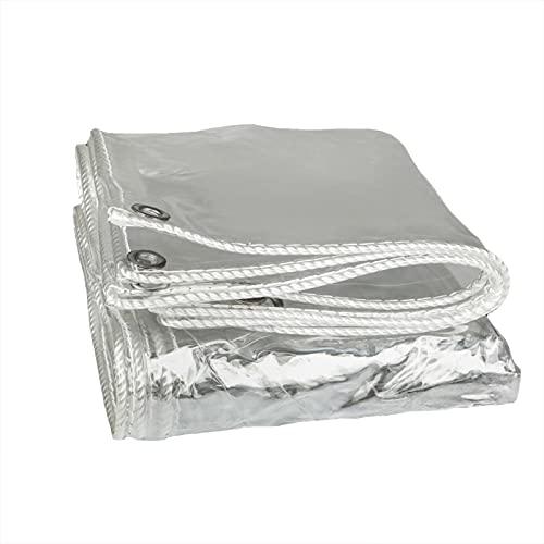 Lona Transparente, Resistente A La Lluvia, Resistente Al Desgarro, Fibra De Poliéster De 0,3 Mm De Espesor, Lona Impermeable Para Cubrir Balcones De Muebles De Patio ( Color : Claro , Size : 4X1.2M )