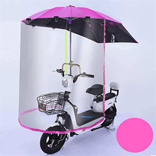 Toldo De Dosel De Paraguas Semicerrado De Bicicleta Eléctrica, Paraguas De Scooter De Motor Universal, Cubierta De Drenaje De Sombrilla De Movilidad, Visera De Sol (Color : Pink)
