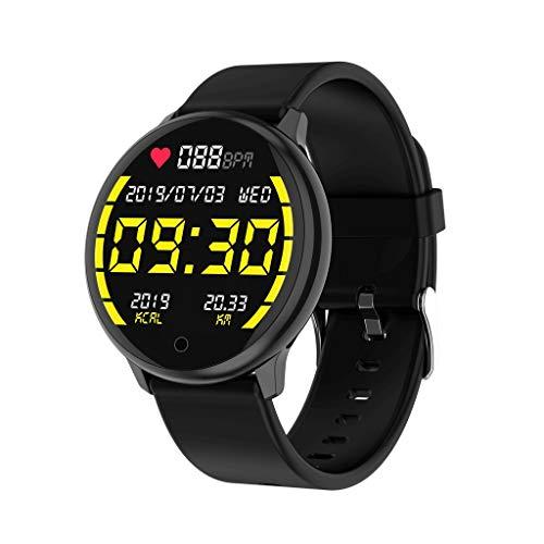 IENPAJNEPQN Sport-Armband Farbe Schirm-intelligenter Armband Herzfrequenz Blutdruck Schlafüberwachung Schritt Übung gesundes Armband (Color : B)