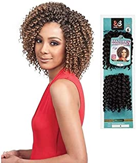 "Bobbi Boss Crochet Braid Brazilian Water Curl 6"" 2X (1B)"