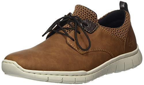 Rieker Herren Frühjahr/Sommer B8753 Sneaker, Braun (Mandel/Brown-Black/Kakao 26), 40 EU