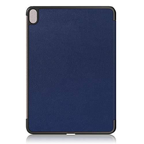 Semoic Funda Protectora de Tableta Custer Tres Pliegues Funda Suave Tablet PC Adecuado para Air 4 10,9 Pulgadas Azul