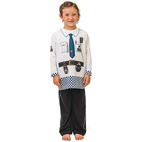 Pijama de Oficial de Policía Británico y Ropa Casera Divertida (3-4 años)