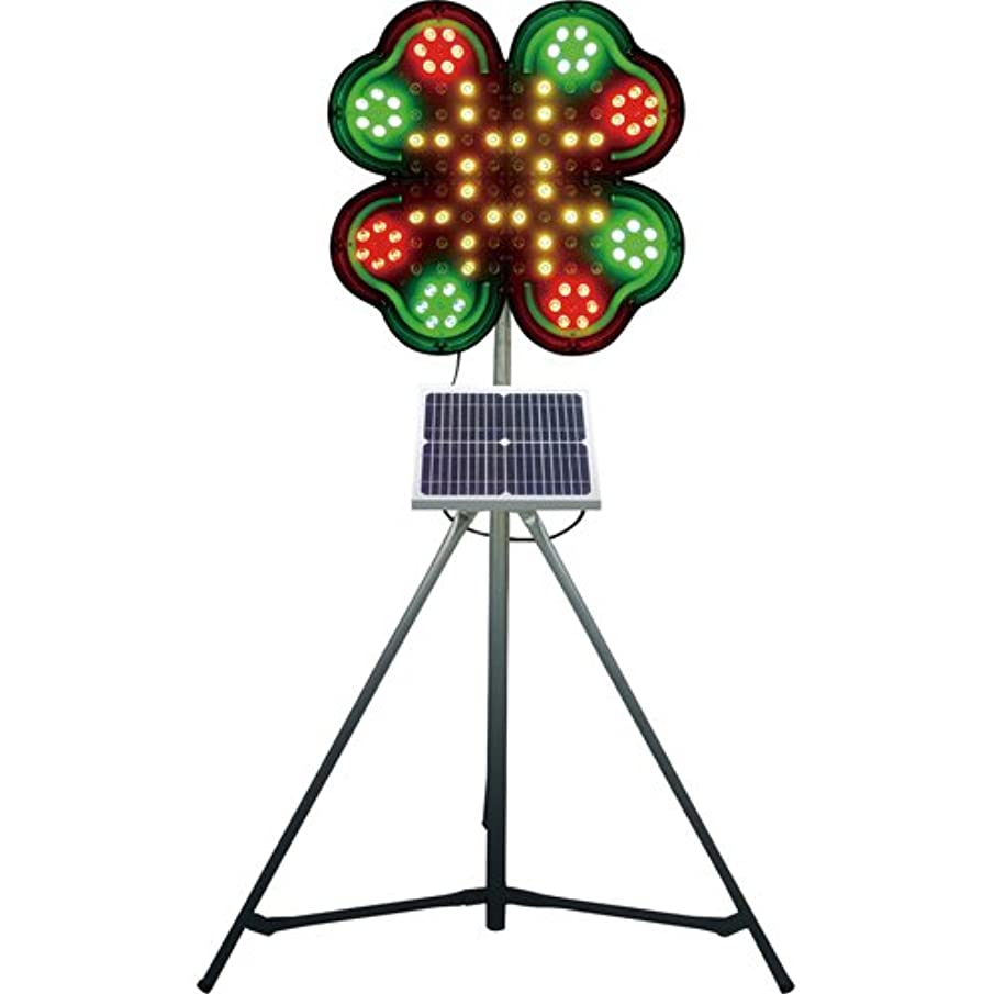 おそらく用量タオル仙台銘板 ネオクローバー ソーラー式大型回転灯 三脚付 電源セット 3050700