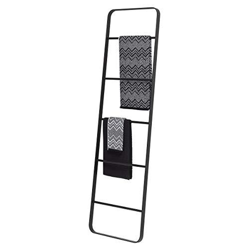 Sealskin Brix Escalera Decorativa Toallero, Metal, Negro, 50x170x35 cm