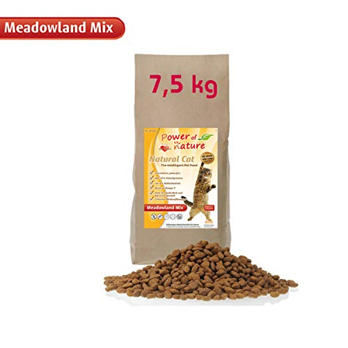 Power of Nature 7,5 kg Natural Cat Meadowland Mix Katzenfutter Trockenfutter Huhn Lachs getreidefrei glutenfrei