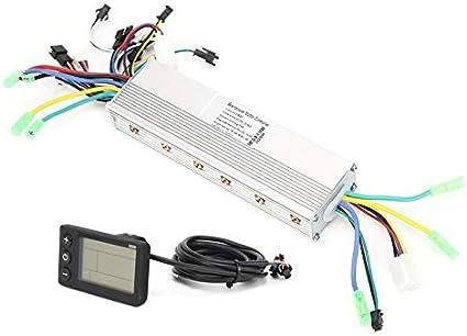 Zxc Home Lcd Instrument Controller Set 24 36 48 60v 250 350w E Bike Scooter Elektro Menge Speed Display Doppel Drive Controller Color 24v 36v 48v Sport Freizeit