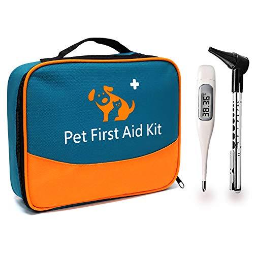 iBaby-Fish Das Erste-Hilfe-Set für Haustiere enthält EIN Thermometer und EIN Veterinär-Otoskop. Für den privaten und externen Gebrauch, besonders auf Reisen oder bei der Jagd