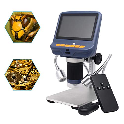 GIYL draagbare desktop digitale microscoop 220X microscoop 4,3-inch LCD-display met afstandsbediening voor industriële reparatie