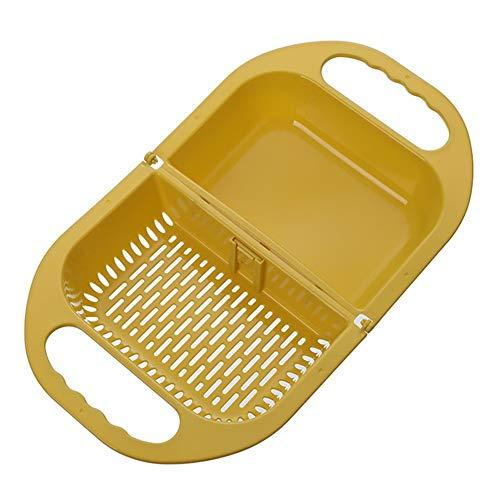 Rysmliuhan Shop Scolapasta Pieghevole Colapasta Filtro da Cucina Pieghevole Colino Piccolo Colino Setaccio Riso Pieghevole Gadget da Cucina per La Cottura Yellow,One Size