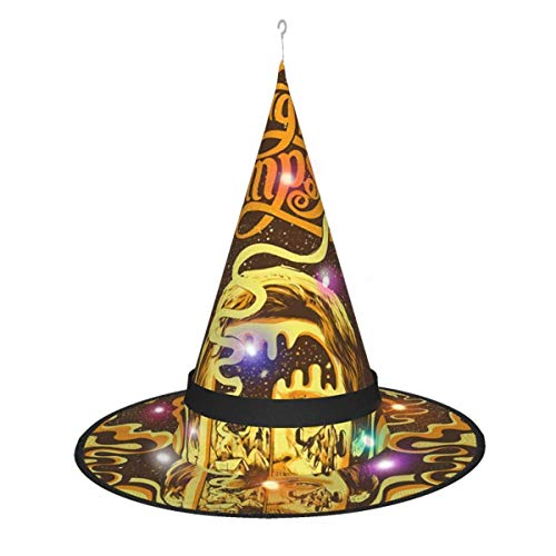 AOOEDM, Sombrero de Bruja de Halloween, decoracin de Fiesta, diseo de Sturgill Simpson, Sombrero de Bruja para Mujer, Disfraz Negro