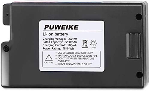 PUWEIKE Replacement 26 Volt 18650 Li-Ion for Aspiradora sin Cable P80 Pro