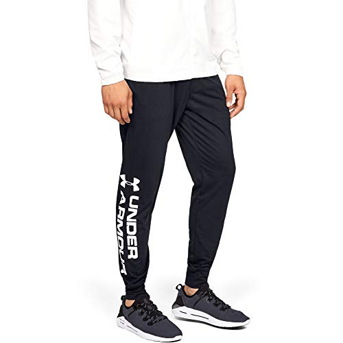 Under Armour Sportstyle Cotton Graphic Jogger, Pantaloni Uomo, Nero (Black/Black), M
