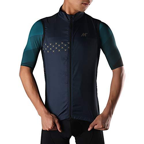Mysenlan メンズ サイクリングベスト ノースリーブ 袖なし 超薄型 防風通気 サイクルウエア スポーツウェア...