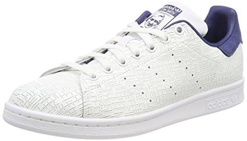 adidas Stan Smith W, Zapatillas Mujer, Blanco (Footwear White/Footwear White/Noble Indigo 0), 37 1/3 EU