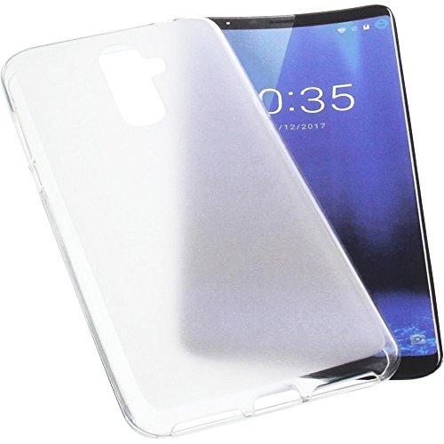 foto-kontor Custodia per cellulari Cubot X18 Plus in Gomma TPU di Colore Bianco Semitrasparente