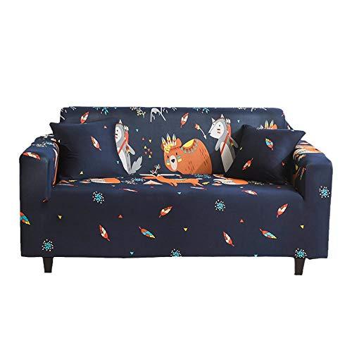 BLACK ELL Suave Cubiertas Elegantes De Los Muebles,Funda Cubre Sofá para Mascotas,Funda de sofá de Tela, Funda de sofá elástica Antideslizante-2_235-300cm