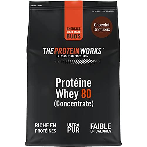 THE PROTEIN WORKS Whey Protéine 80 (Concentré) | 82% de protéines | Shake à faible teneur en sucre et à forte...