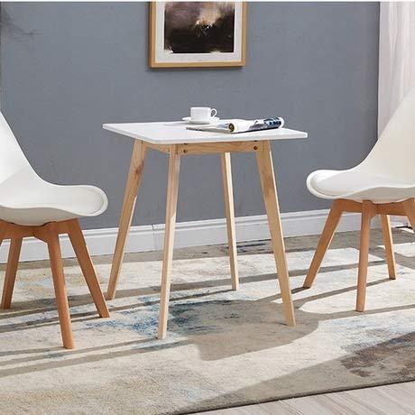 Bermnn Escritorio de Computadora Sencillo Mini Home Moda Tabla Inicio Muebles de Madera Maciza de Comedor Cuadrada de Mesa de té de Mesa Minimalista café Mesas de Comedor Muebles de Comedor