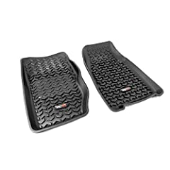 HEAVY DUTY FLOOR MATS: Deep rib floor mat set features a molded chevron-shape tread pattern that captures dirt, mud & snow. Floor mats reseal themselves to the floor hook attachment where applicable. ALL TERRAIN MATS: Made of high pressure injection ...