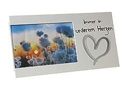 Kamaca Bilderrahmen Fotorahmen aus Holz und Glas Erinnerung an Ihren Lieblingsmensch für Fotos 15x10 cm (Immer in unserem Herzen)