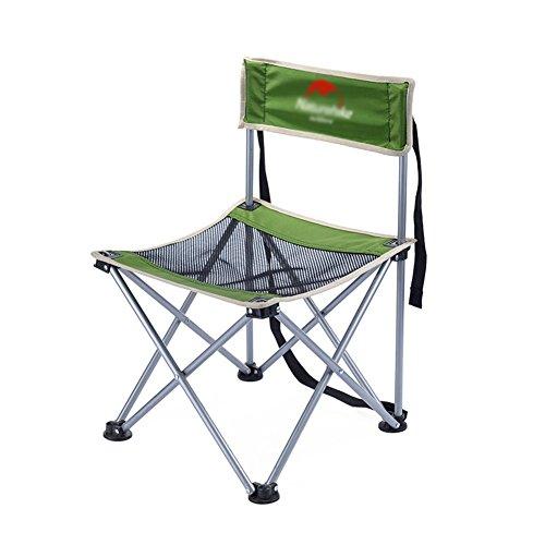 XUEYAN Rückenlehne Klappstuhl Sitz Ultralight Ergonomics Mini Mazar Angeln Stühle, Hocker (Farbe : Grün)