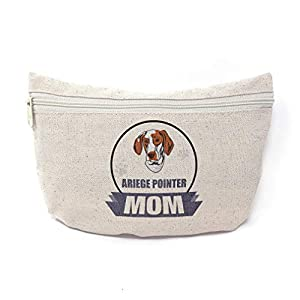 Custom Canvas Makeup Bag Mom Ariege Pointer Dog School Supplies Pencil Tote Pouch 9x6 Inches Natural Design Only 18