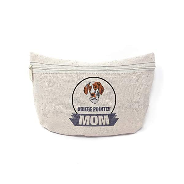 Custom Canvas Makeup Bag Mom Ariege Pointer Dog School Supplies Pencil Tote Pouch 9x6 Inches Natural Design Only 1