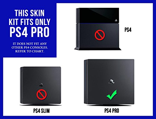 Sony PlayStation 4 Pro Skin (PS4-Pro) - NEW - 3D CARBON FIBER SKY BLUE - Air Release vinyl decal console mod kit by System Skins