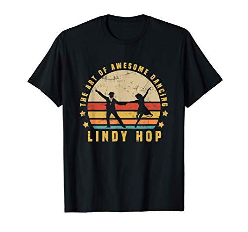Lindy Hop Vintage Design per il tuo allenatore di ballo Maglietta