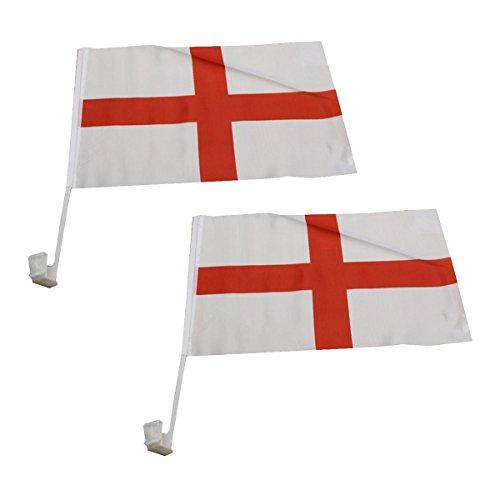 Sonia Originelli 2er Set Auto Flagge Fahne WM Länder Fußball Fan Farbe England